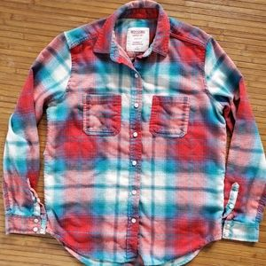 Red and blue boyfriend flannel